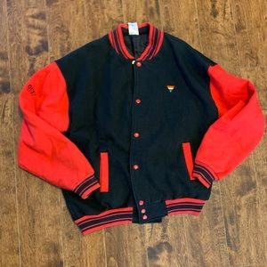 VTG 90s Pride Out! Wear Brand Letterman Jacket